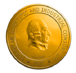 "Medal european scientific and industrial consortium ""esic"" -  Adam Smith (Медаль Адама Смита)"